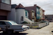 Streetscape with Cadillac, Sunset District, 1978