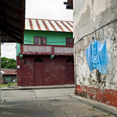 Street Composition in Three Colors; El Chorrillo, Panama