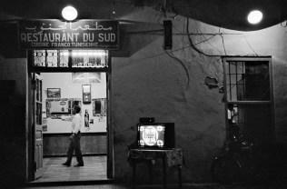 Restaurant Scene at Night, Tunisia, 1976