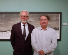 Richard Sexton and Richard McCabe, curator of photographs, Ogden Museum of Southern Art