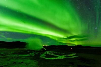 northern light around myvatn