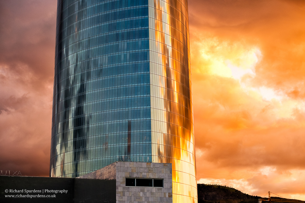 Iberdrola Tower sunset II