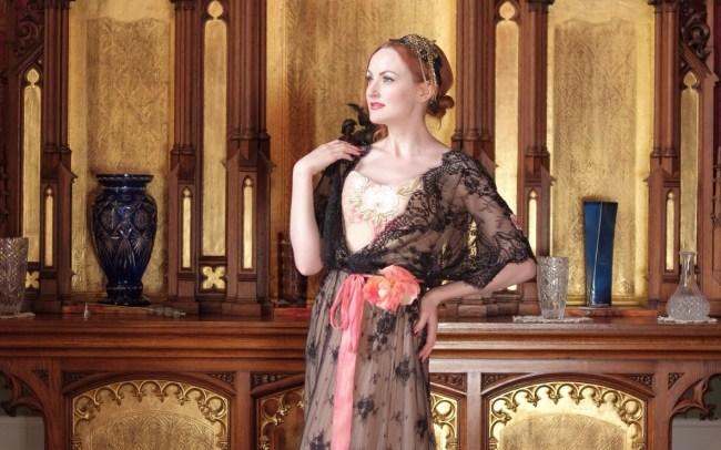 Walters Wardrobe anita in the music room IIIII