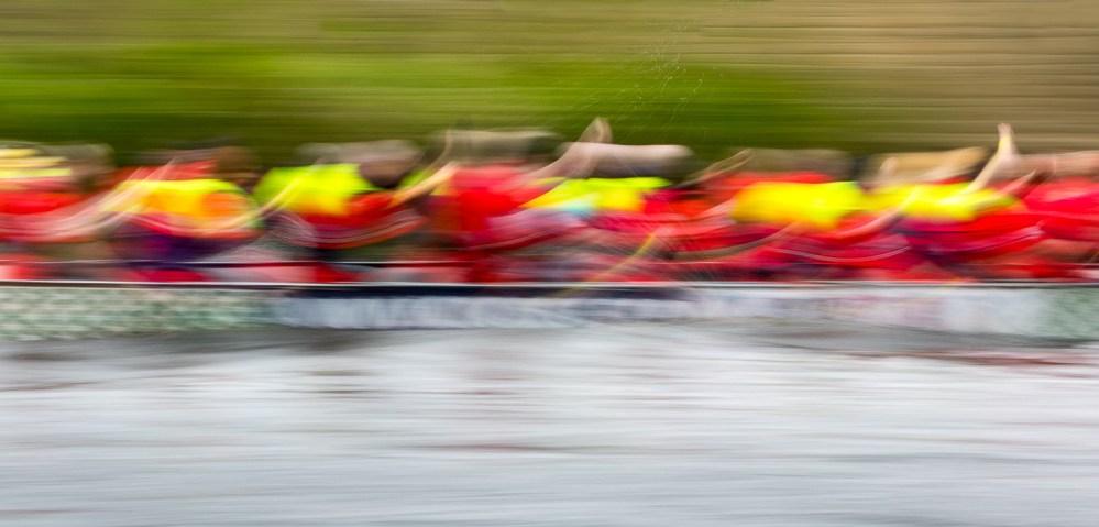 dragon boat adstract