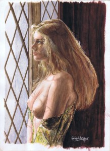 """Nude Art - Reflections - Nude Art REAF 2009 Juried Art Show 11"""" x 15"""" Watercolor on 140# cold pressed paper Copyright © 2003 - Richard Verry, all rights reserved"""