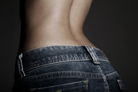 small of back with jeans