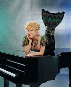 Bette Midler mermaid on piano