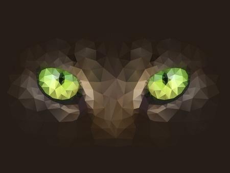 Eyes staring