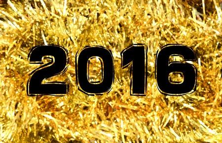 2016 gold confetti