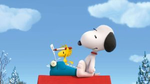 Woodstock edits Snoopy novel