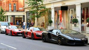 Super Cars Cavalcade in London