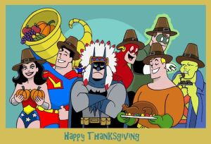 """An Awkward Justice League Thanksgiving"""