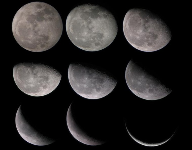 Waning moon phases