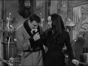 gomez and morticia addams romance