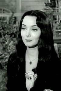 Morticia Addams, goth dark beauty