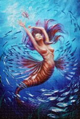 Mermaid and Fish jigsaw puzzles