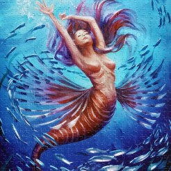 Mermaid and Fish jigsaw puzzles
