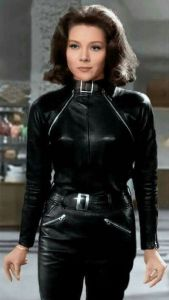 Emma Peel in Leather Catsuit