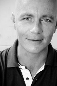 Richard Wonka, black and white portrait