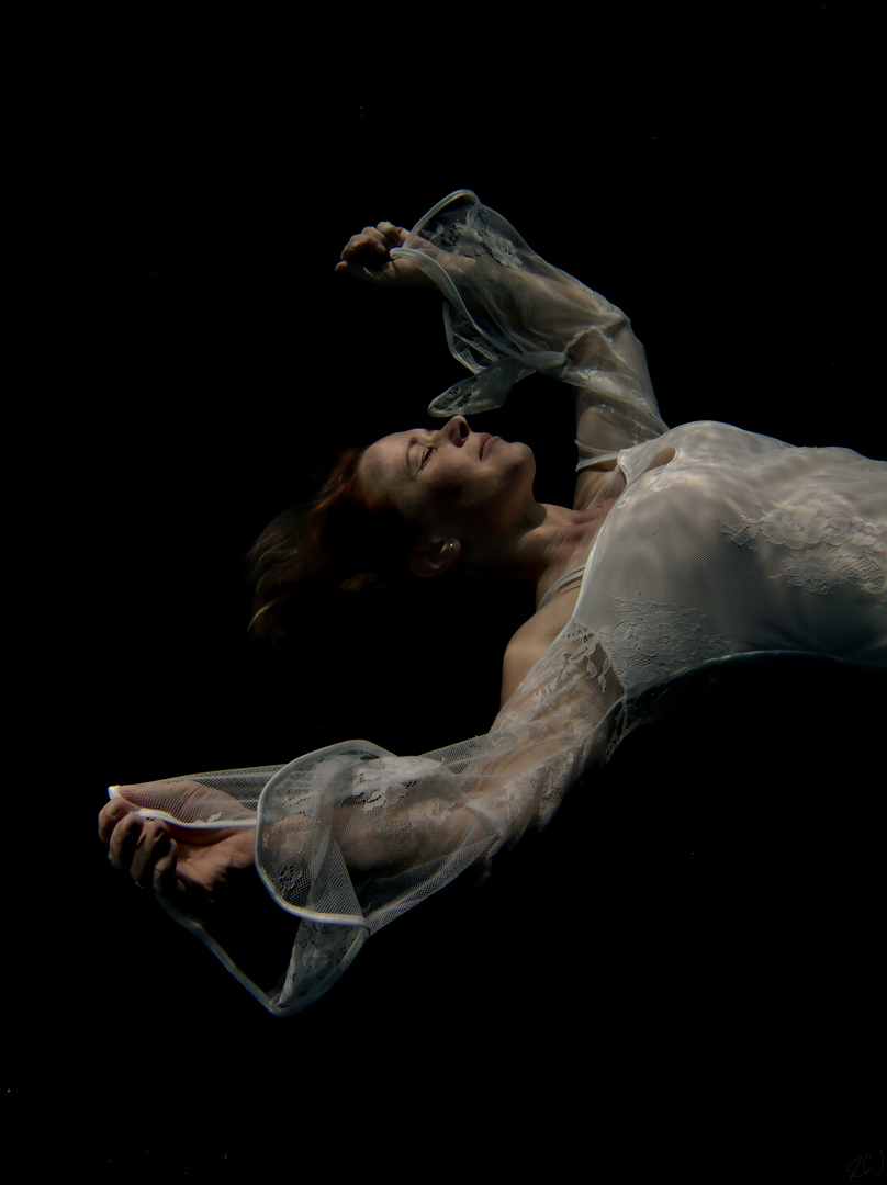 Sarah Whitcher, at home under water
