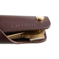 Leather Key Holder Cover Keychain Keyring Fobs Case ...
