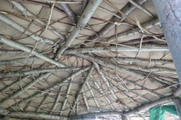Spirals in design - strong roof of the cob hut