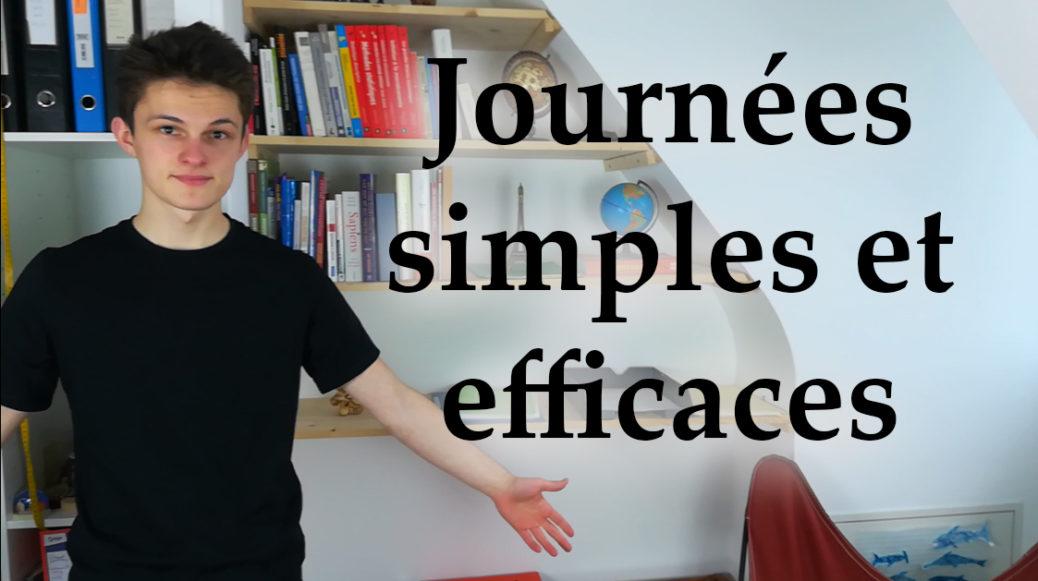 simplifier journee