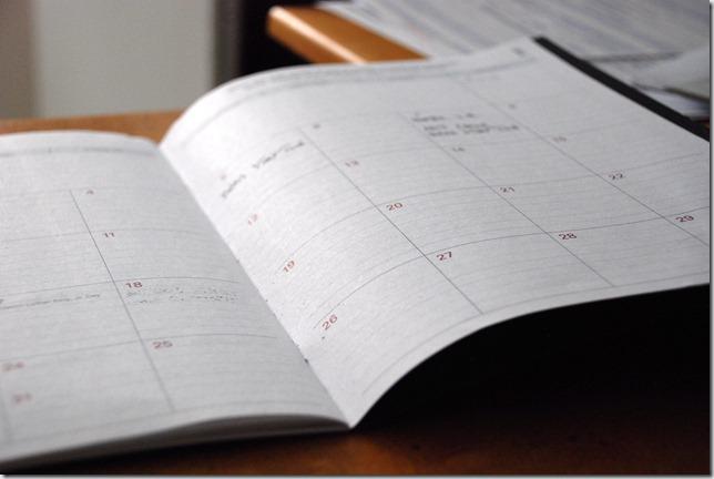 planifier annee agenda