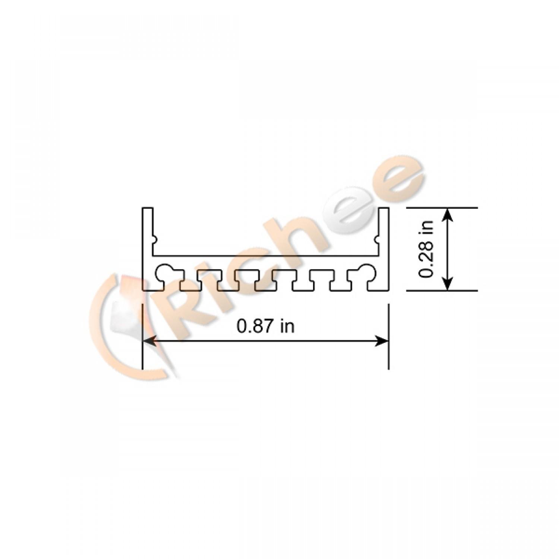 7 8 Wide Slim Led Aluminum Channel