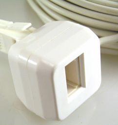 bt telephone extension 10m new slave socket mbh024c [ 1600 x 1309 Pixel ]