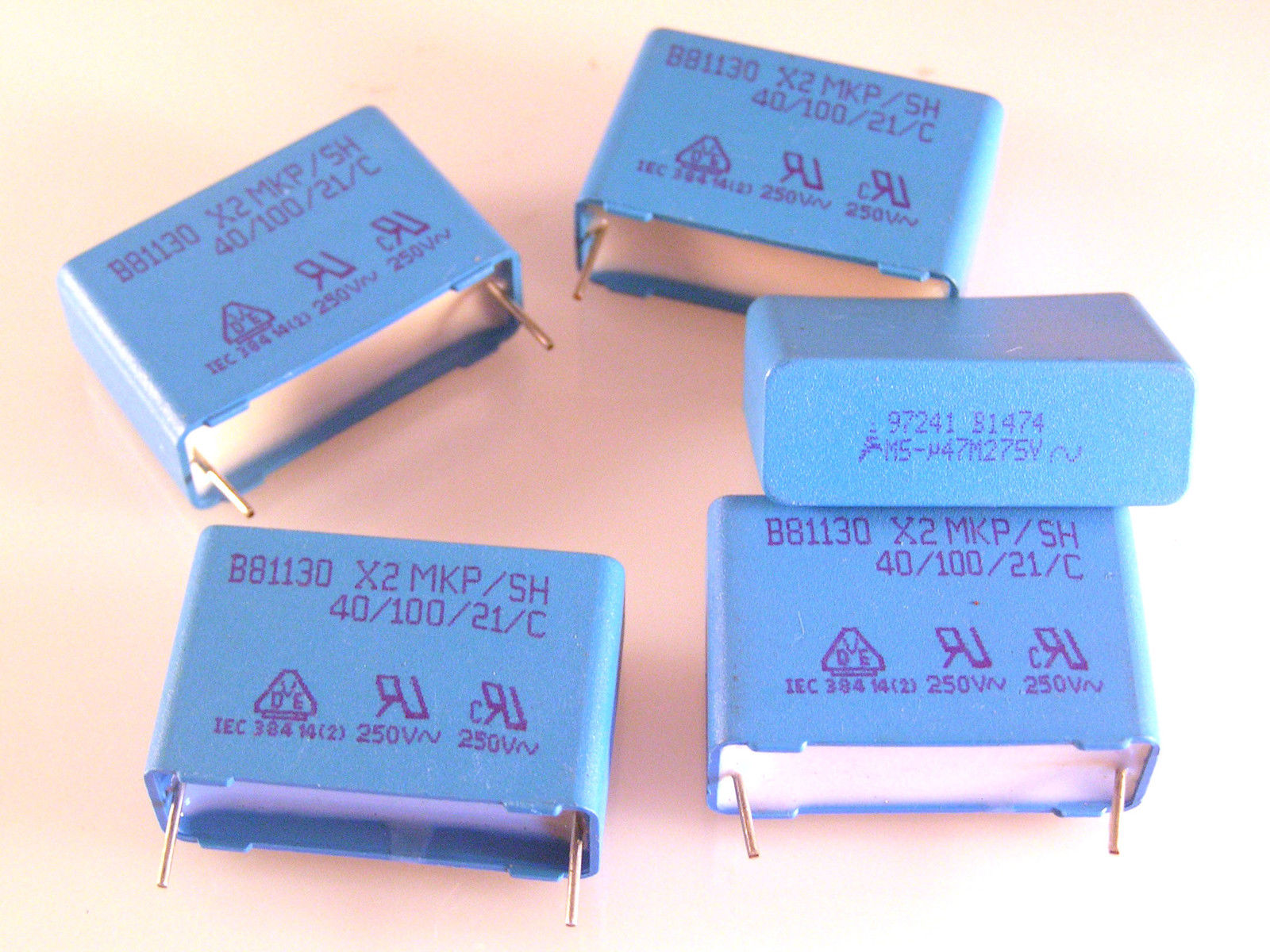 Epcos Metal Film Polyester Capacitor MKP//SH B81122 A1153M 15nf  250V 4pcs OL0418