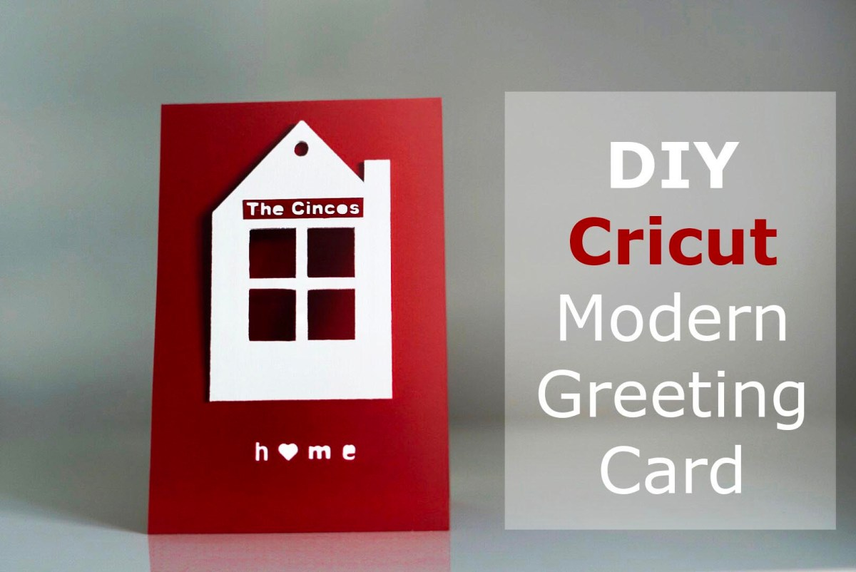 DIY Modern House Greeting Card