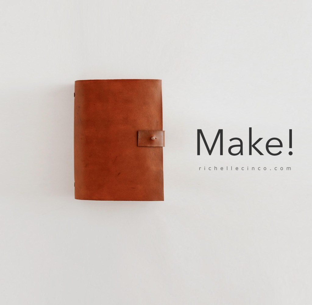Image of a finished DIY Leather Planner