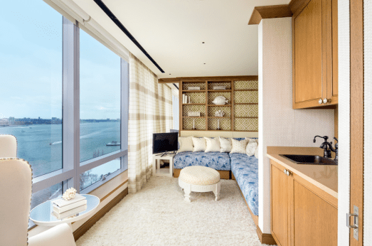 Tyra Banks penthouse view of Hudson River