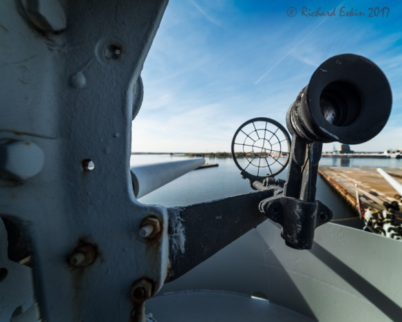 Gun sights and canon from the prow of the John Brown.