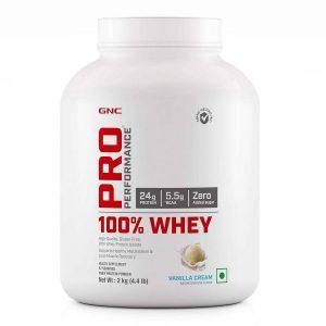 GNC 100 Whey Protein  2 kg Vanilla Cream