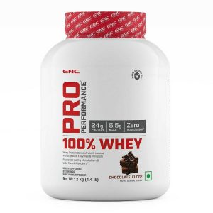 GNC Pro Performance 100 Whey Protein  2 kg Chocolate Fudge  ro Performance 100 Whey Protein 44 lbs 2 kg Chocolate Fudge
