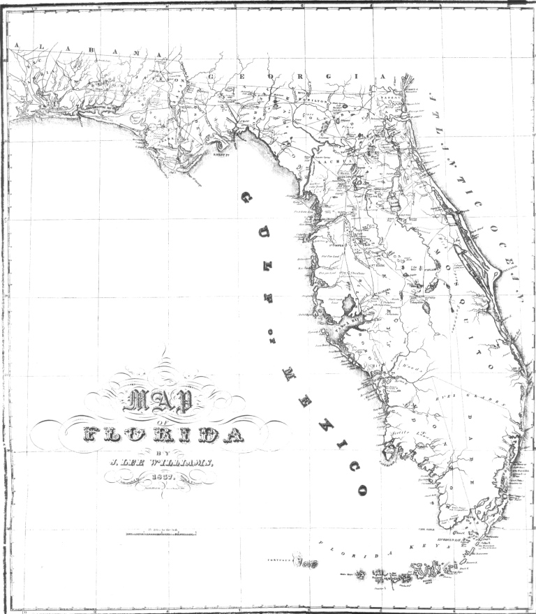 Map of Florida, 1837 · RICHES