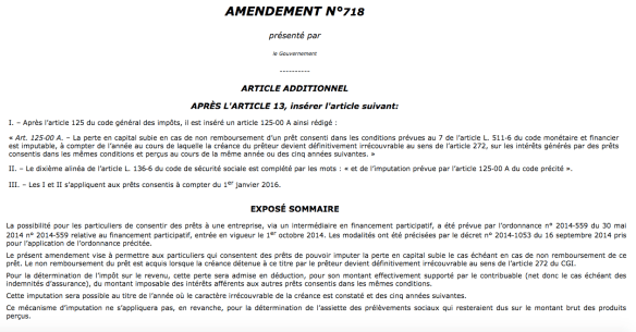 amendement 718