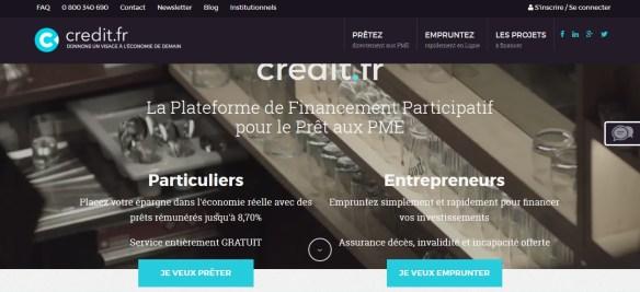Mapa del sitio credit.fr