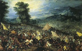 Jan Brügel former, the battle of Gaugamela, 1602.