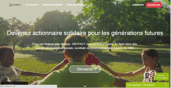 1001 pacts investment solidarity crowdfunding 04 main menu