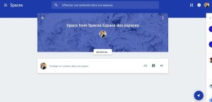 Google spaces spaces mode enploi