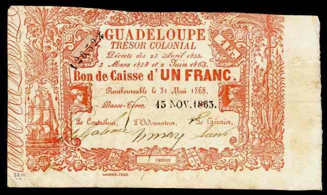 guadaloupe_tresor_colonial_bons_de_caisse-1_franc_1863