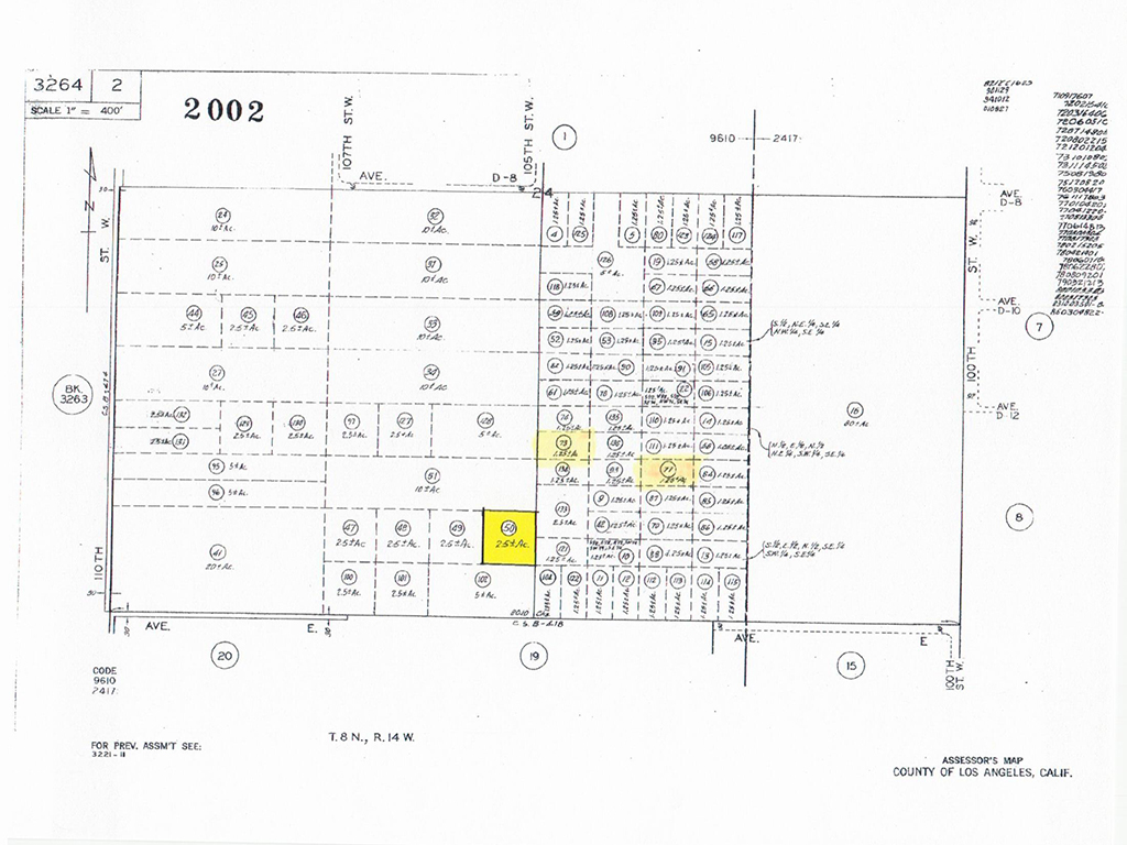 W Ave D12 and 105th St. W – APN3264002073