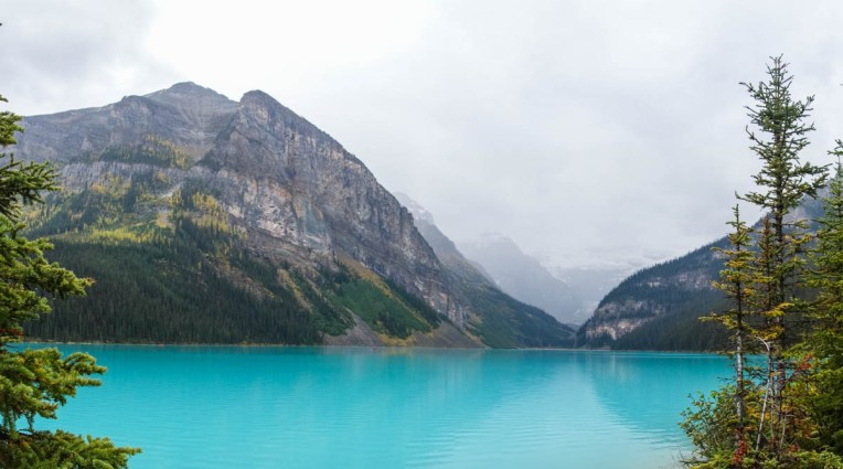 The lake is an unbelievable turquoise blue. No surprise this lake is filled with tourists... such as myself. This photo was taken using Sony's panoramic mode. It does a pretty good job of stitching the photos together automatically.