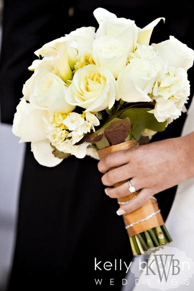 Cream colored wedding bouquet