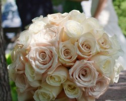 All rose wedding bouquet