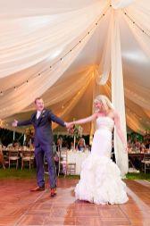 wedding reception draping