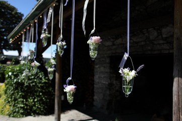 hanging glass vases